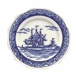 Andrea by Sadek Blue Export Scalloped Plate (Set of 4)