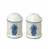 Andrea by Sadek Blue Pineapple Salt & Pepper Shakers