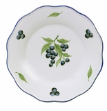 Andrea by Sadek Blueberries Scalloped Dinner Plate (Set of 2)