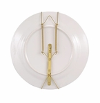 Andrea by Sadek Brass Adjustable Plate Hangers (2)