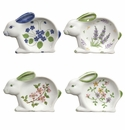 Andrea by Sadek Bunny Rabbit Tea Bag Holder Caddies (Set of 12)