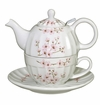Andrea by Sadek Cherry Blossoms Ribbed Tea-for-one Set