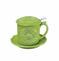 Andrea by Sadek Daisy Green Covered Mug