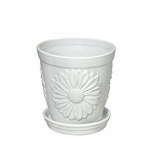 Andrea by Sadek Daisy Planter - White