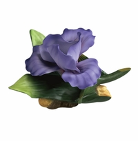 Andrea by Sadek Dark Purple Iris Porcelain Flower Figurine