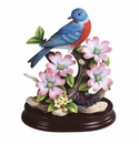 Andrea by Sadek Eastern Bluebird with Dogwood Figurine
