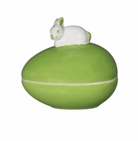 Andrea by Sadek Egg Box With Bunny - Green
