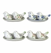 Andrea by Sadek Floral Bird Salt and Pepper Shakers (Set of 4 Assorted)