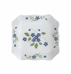 "Andrea by Sadek Forget Me Not Square Plates 6.5"" (Set of 4)"