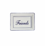 """Andrea by Sadek """"Friend"""" Soap or Catch-All  Dish - Blue Border"""