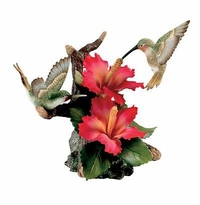 Andrea by Sadek Hummingbirds with Hibiscus Figurine - On Sale Now!