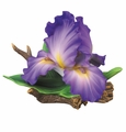 Andrea by Sadek Large Purple Iris Porcelain Flower Figurine
