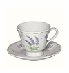 Andrea by Sadek Lavender Cup and Saucers  (Set of 4)