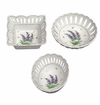 Andrea by Sadek Openwork Lavender Dishes (Set of 3) Assorted