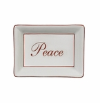 "Andrea by Sadek ""Peace"" Dish - Red Border"