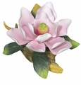 Andrea by Sadek Pink Magnolia Porcelain Flower on Wide Branch