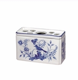 Andrea by Sadek Rectangular Flower Brick Vase Blue in Bloom