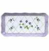 Andrea by Sadek Violet Dot Trellis Oblong Tray