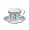 Andrea by Sadek Violet Polka Dot Tea Cup & Saucers (4)