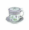 Andrea by Sadek Violet Polka Dots Covered Tea Mug