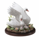 Andrea by Sadek White Mute Swan Family Figurine