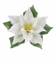 Andrea by Sadek White Poinsettia Porcelain Flower Figurine
