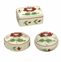 Andrea by Sadek Winterthur Adams Rose Boxes (3 Assorted)