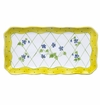 Andrea by Sadek Yellow Dot Trellis Oblong Tray