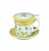 Andrea by Sadek Yellow Polka Dot Covered Tea Mug