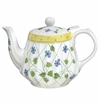 Andrea by Sadek Yellow Polka Dot Ribbed Teapot