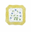 Andrea by Sadek Yellow Polka Dot Square Plates (4)