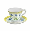 Andrea by Sadek Yellow Polka Dot Tea Cup & Saucer Sets (4)