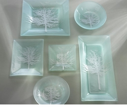 Annieglass Satin Silver Accents Glass Collection