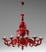 Anniston Red Glass Chandelier by Cyan Design
