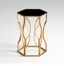 Anson Iron with Gold Leaf Side Table by Cyan Design