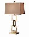 Antique Brass Square Link Lamp- (3 Way And 150W ) Home Decor