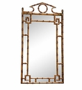 Antique Gold Bamboo Mirror Home Decor