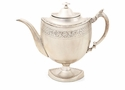 Antique Silver Decorative English Teapot Home Decor