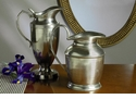 Antique Silver Decorative Pitcher Home Decor
