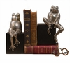 Antique Silver Frogs On Black Base Home Decor
