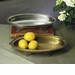 Antique Silver Oval Footed Centerpiece Tray by Dessau Home