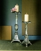 Antique Silver Tripod Pillar Candleholder by Dessau Home