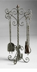 Antique White Fireplace Tools by Cyan Design