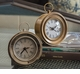 Antiqued Brass Round Face Alarm Clock Home Decor