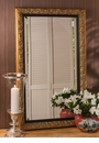 Antiqued Gold Rococo Mirror Home Decor