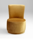 Apostrophe Modern Round Gold Chair by Cyan Design