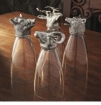 Arte Italica Animale Glass with Pewter Accents