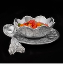 Arthur Court Butterfly 3 Piece Condiment Set