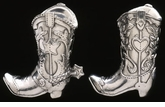 Arthur Court Designs Cowboy Boot Salt & Pepper Set