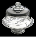 """Arthur Court Designs Horse 8"""" Footed Plate with Glass Dome"""